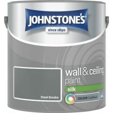 Johnstones Vinyl Emulsion Paint 2.5L Steel Smoke (Silk)