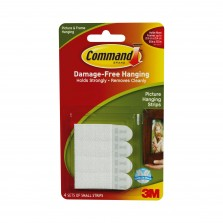 Command Small Picture Hanging Strips (4 Pack) White