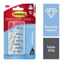 Command 3M Small Wire Hooks (9 Pack) 17067CLR-9