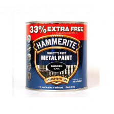 Hammerite Metal Paint 750ml Smooth Black ( +33% Extra)