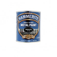 Hammerite Metal Paint 250ml Smooth Black