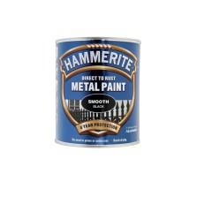 Hammerite Metal Paint 250ml Smooth Black