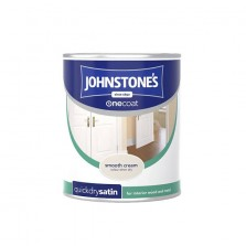 Johnstones One Coat Satin Paint 750ml Smooth Cream