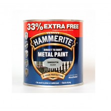 Hammerite Direct to Rust Metal Paint 750ml Smooth Silver ( +33% Extra)
