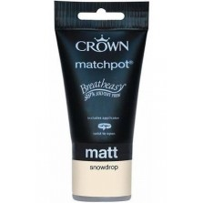 Crown Tester Pot 40ml Snowdrop Matt