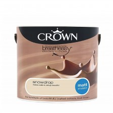 Crown Emulsion Paint 2.5L Snowdrop Matt