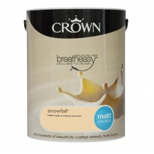 Crown Breathe Easy Emulsion Paint 5L Snowfall (Matt)