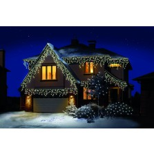 Premier Supabrights Snowing Icicles (180 Pack) Warm White LEDs & Timer