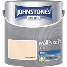 Johnstones Vinyl Emulsion Paint 2.5L Soft Cream Matt