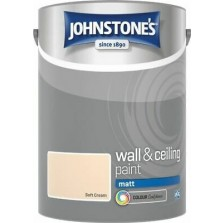 Johnstones Vinyl Emulsion Paint 5L Soft Cream Matt