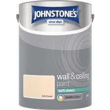 Johnstones Vinyl Emulsion Paint 5L Soft Cream Soft Sheen