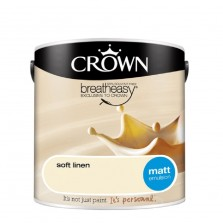 Crown Emulsion Paint 2.5L Soft Linen Matt