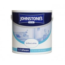 Johnstones Vinyl Emulsion Paint 2.5L Brilliant White (Soft Sheen)