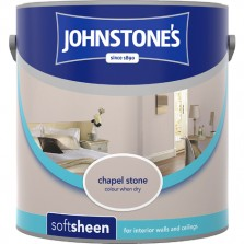 Johnstones Vinyl Emulsion Paint 2.5L Chapel Stone Soft Sheen