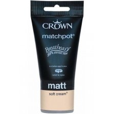 Crown Tester Pot 40ml Soft Cream Matt