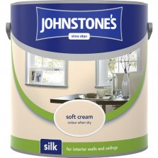 Johnstones Vinyl Emulsion Paint 2.5L Soft Cream Silk