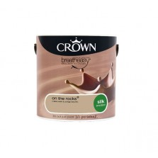 Crown Breathe Easy Emulsion Paint 2.5L On The Rocks (Silk)