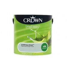 Crown Breathe Easy Emulsion Paint 2.5L Potting Shed (Silk)