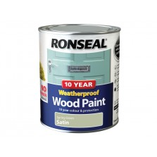 Ronseal 10 Year Weatherproof  Wood Paint Spring Green Satin 750ml