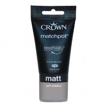 Crown Emulsion Paint Tester Pot 40ml Soft Shadow (Matt)