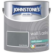 Johnstones Vinyl Emulsion Paint 2.5L Steel Smoke (Soft Sheen)