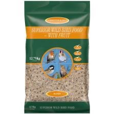 Johnston & Jeff Superior Wild Bird Food No Mess - With Fruit 12.75KG