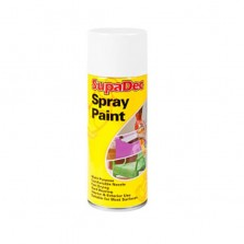 Supadec Spray Paint 400ml White Matt