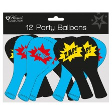 Home Collection Superhero Party Balloons (12 Pack)