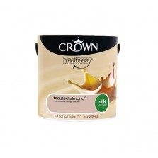 Crown Breathe Easy Emulsion Paint 2.5L Toasted Almond (Silk)