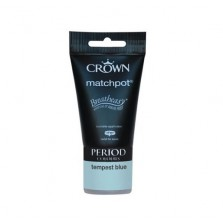 Crown Period Colours Emulsion Paint Tester Pot 40ml Tempest Blue (Matt)