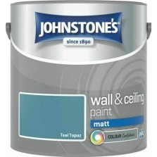 Johnstones Vinyl Emulsion Paint 2.5L Teal Topaz Matt