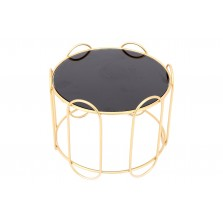 Black Glass Gold Metal Display Stand
