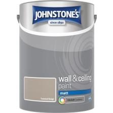 Johnstones Vinyl Emulsion Paint 5L Toasted Beige Matt