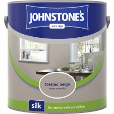Johnstones Vinyl Emulsion Paint 2.5L Toasted Beige Silk