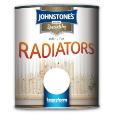 Johnstones Radiator Paint 250ml White Satin