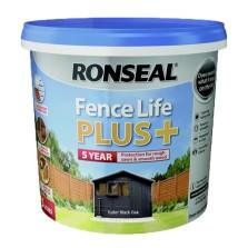 Ronseal Fence Life Plus + 5L Tudor Black