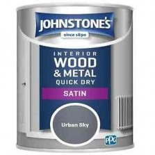 Johnstones Quick Drying Satin Paint 750ml Urban Sky