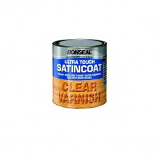 Ronseal Ultra Tough Satin Coat Varnish 750ml Clear