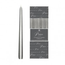 """Prices Venetian Candles 10"""" (10 Pack) Silver"""