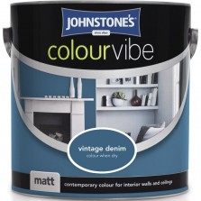Johnstones Colour Vibe Emulsion Paint 2.5L Vintage Denim Matt