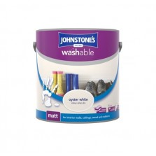 Johnstones Washable Emulsion Paint 2.5L Oyster White (Matt)