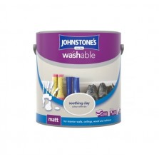 Johnstones Washable Emulsion Paint 2.5L Soothing Clay (Matt)