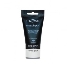 Crown Period Colours Emulsion Paint Tester Pot 40ml White Glove (Matt)