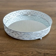 Mirrored Candle Plates 25cm