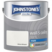 Johnstones Vinyl Emulsion Paint 2.5L White Whisper (Matt)