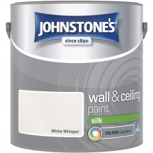 Johnstones Vinyl Emulsion Paint 2.5L White Whisper (Silk)