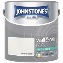 Johnstones Vinyl Emulsion Paint 2.5L White Whisper (Soft Sheen)
