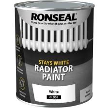 Ronseal Stays White Radiator Paint 250ml White Gloss