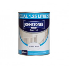 Johnstones One Coat Gloss Paint 1.25L White