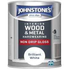 Johnstones Non Drip Gloss Paint 2.5L Brilliant White
